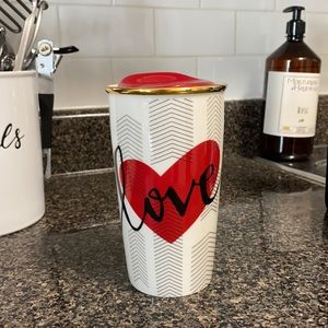 Starbucks Valentine's Day love glass mug